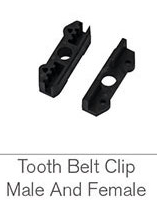TOOTH BELT CLIP MALE AND FEMALE